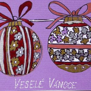 Vánoční přání s koulemi