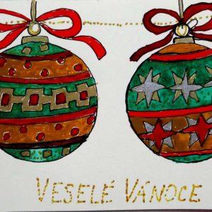Vánoční přání skoulemi