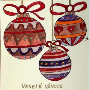 Vánoční přání svánočními koulemi