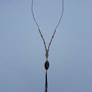 Okrovo-hnědé korále se střapcem