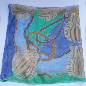 Šátek s mušlemi