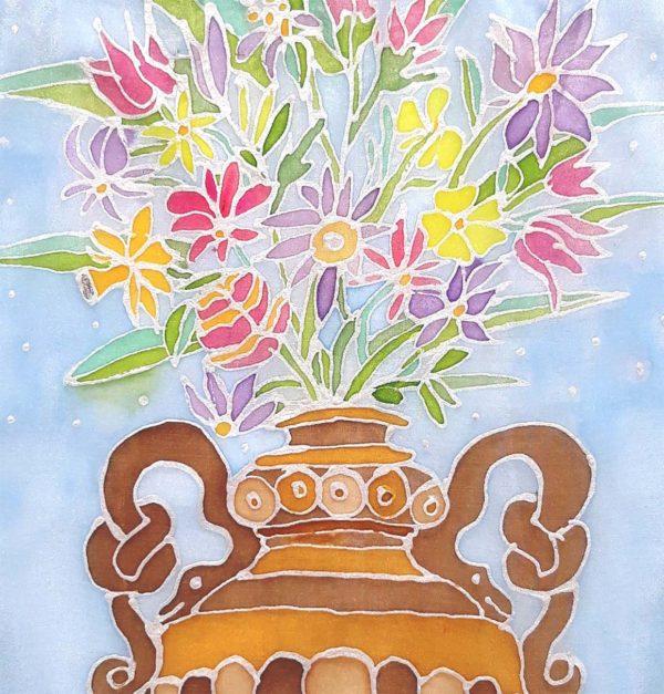 Prostírka santickou vázou